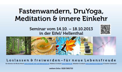 Fastenwandern Yoga und Meditation Eifel Oktober 2013